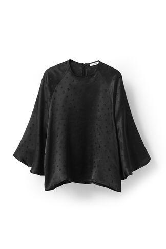 McCarthy Silk Blouse, Black, hi-res