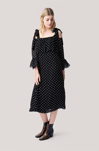 Monette Georgette Maxi Dress, Black, hi-res