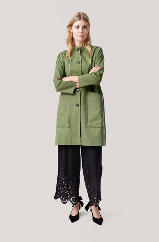 Fabre Cotton Coat, Army, hi-res