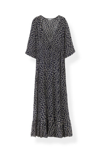 Newman Georgette Maxi Dress, Total Eclipse, hi-res