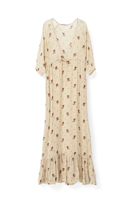 Newman Georgette Maxi Dress, Biscotti, hi-res