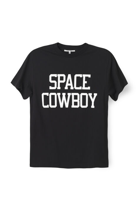 Harvard T-shirt, Space Cowboy, Black, hi-res