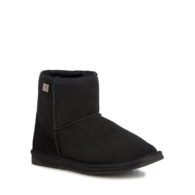 PLATINUM STINGER MINI Womens Sheepskin Boot - BLACK