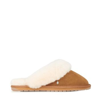 JOLIE Womens Liner Skin Slipper - CHESTNUT