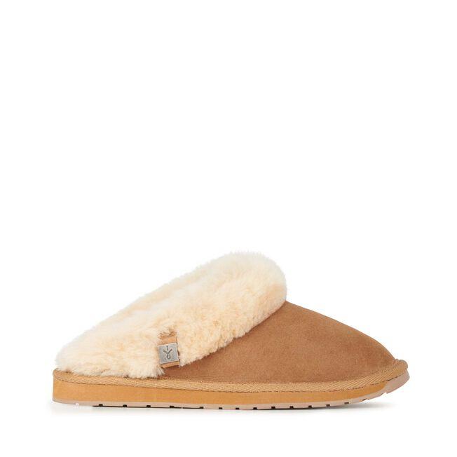 Eden 羊毛拖鞋, CHESTNUT, hi-res