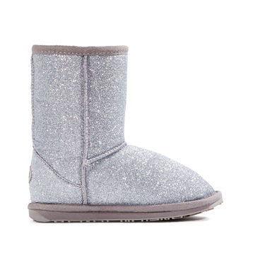 SPARKLE LO Kids Deluxe Wool Boot - SILVER