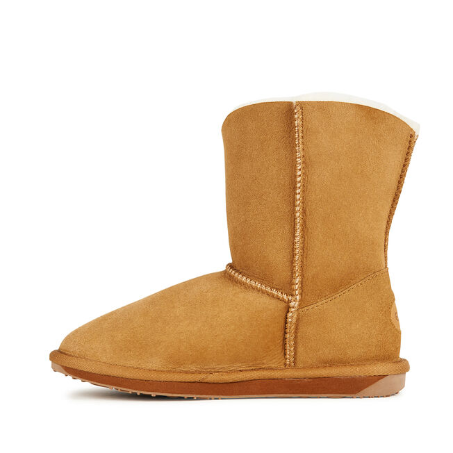 VALERY LO Womens Sheepskin Boot - CHESTNUT