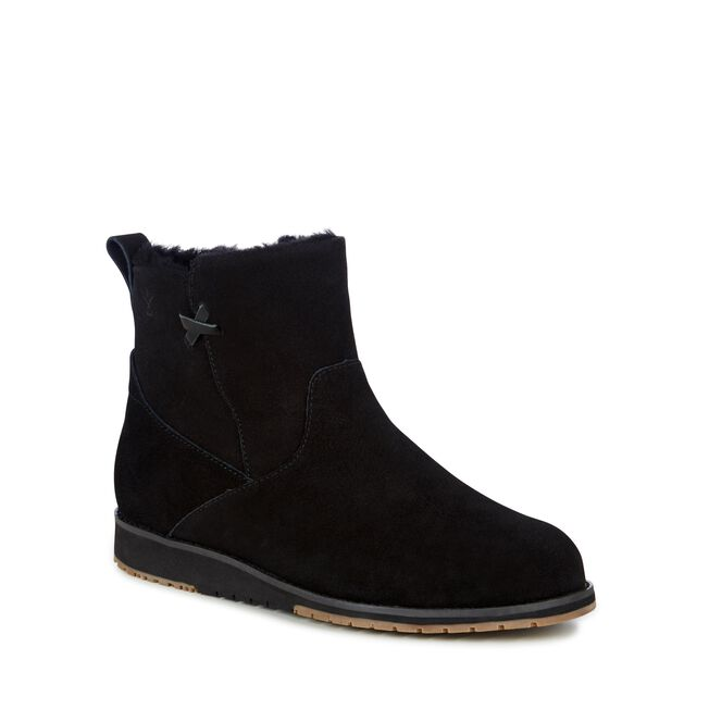 BEACH MINI Womens Deluxe Wool Boot - BLACK