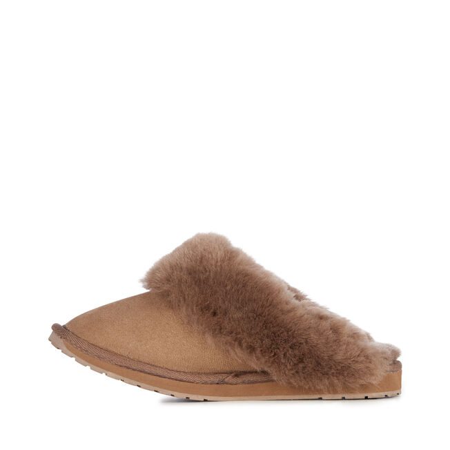 Platinum Eden Womens Sheepskin Slipper - MUSHROOM