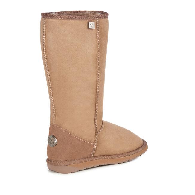 PLATINUM STINGER HI Womens Sheepskin Boot - MUSHROOM