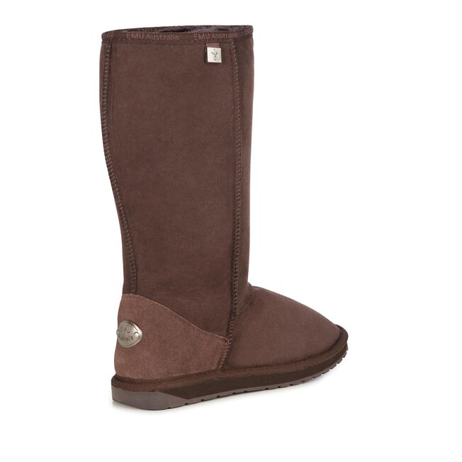 PLATINUM STINGER HI Womens Sheepskin Boot - CHOCOLATE