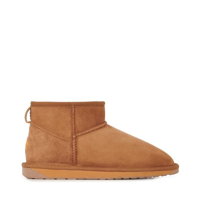 STINGER MICRO Womens Sheepskin Shoe - CHESTNUT