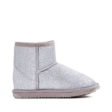 SPARKLE MINI Kids Deluxe Wool Boot - SILVER