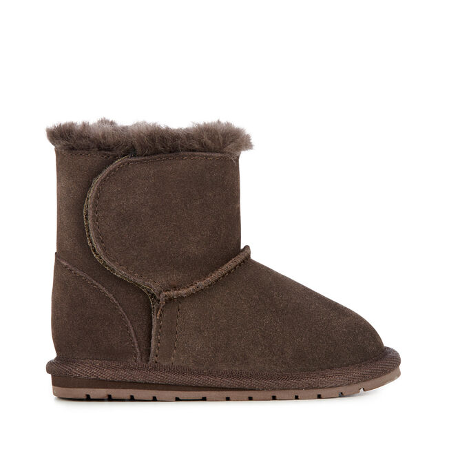 Toddle Kids Deluxe Wool Boot - CHOCOLATE