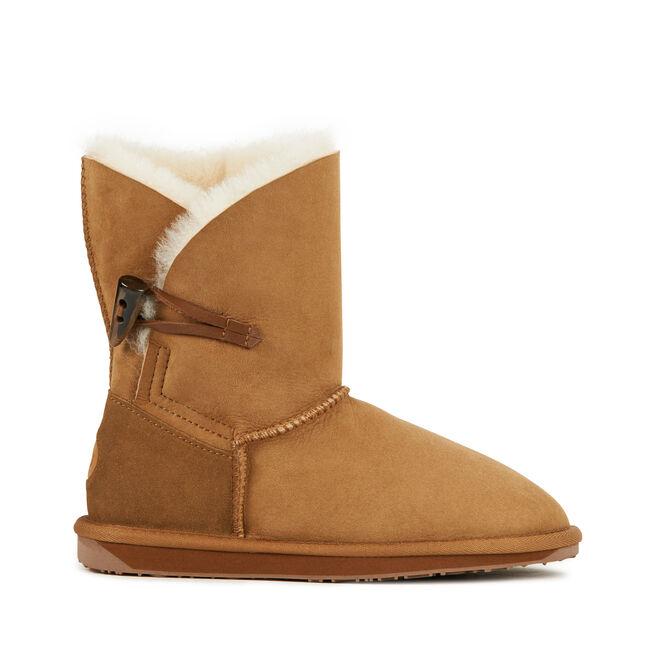 DALEY LO Womens Sheepskin Boot - CHESTNUT