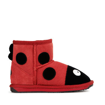 LC LADYBIRD MINI Kids Deluxe Wool Boot - RED