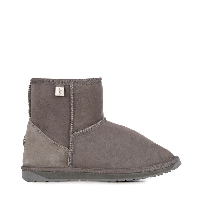 PLATINUM STINGER MINI Womens Sheepskin Boot - CHARCOAL