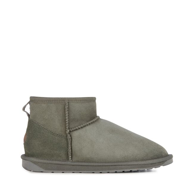 STINGER MICRO Womens Sheepskin Shoe - CHARCOAL