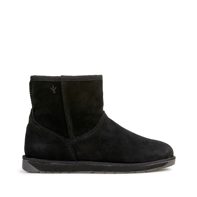 SPINDLE MINI Womens Deluxe Wool Boot - BLACK