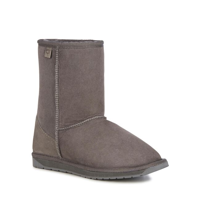 PLATINUM STINGER LO Womens Sheepskin Boot - CHARCOAL