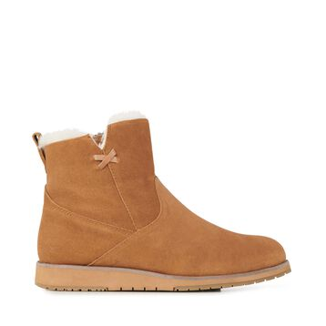 BEACH MINI Womens Deluxe Wool Boot - CHESTNUT