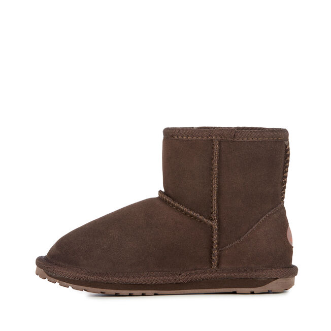 WALLABY MINI Kids Deluxe Wool Boot - CHOCOLATE