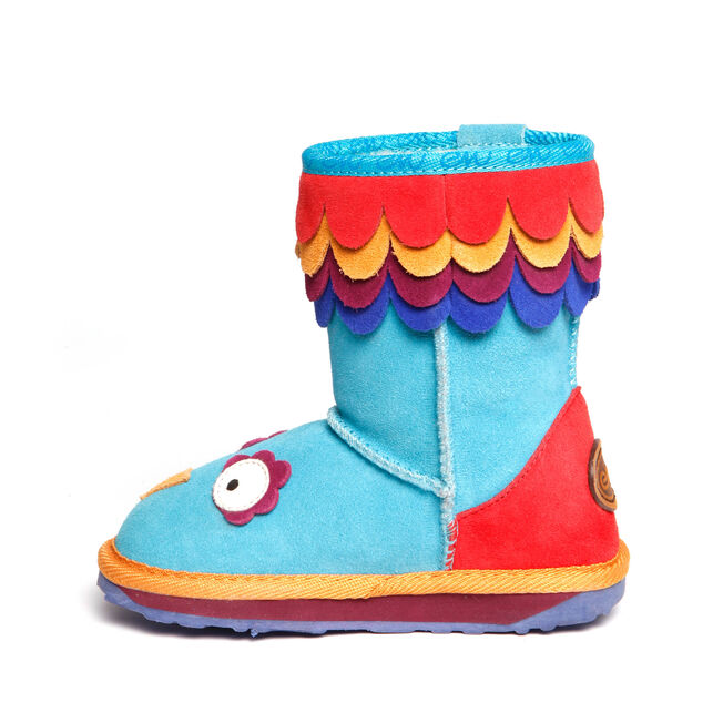 LC PARROT Kids Cow Suede Boot - BLUE
