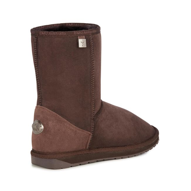 PLATINUM STINGER LO Womens Sheepskin Boot - CHOCOLATE