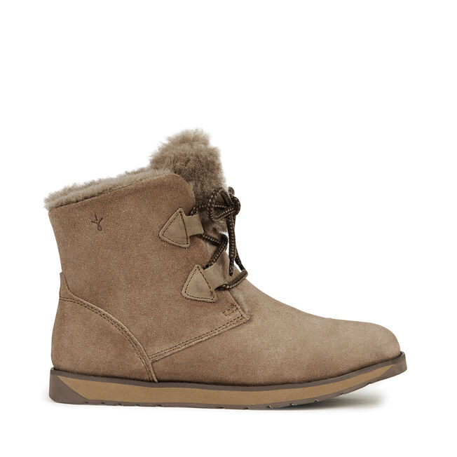 FEATHERWOOD MINI Womens Deluxe Wool Boot - MUSHROOM