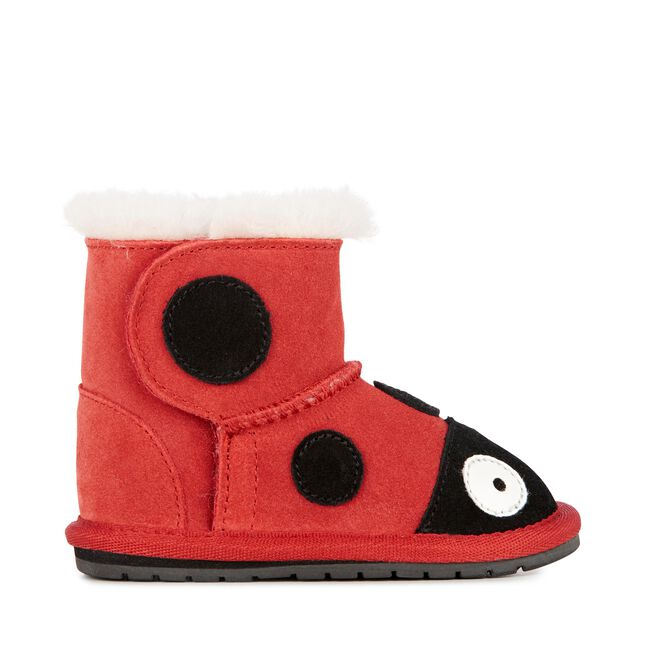 LC WALKER LADYBIRD Kids Deluxe Wool Boot - RED