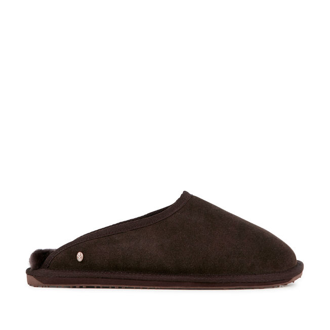 BUCKINGHAM Mens Liner Skin Slipper - CHOCOLATE