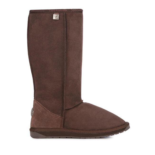 PLATINUM STINGER HI Womens Sheepskin Boot - CHOCOLATE