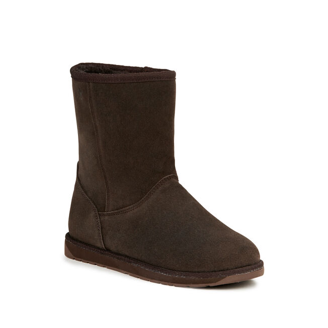 SPINDLE LO Womens Deluxe Wool Boot - CHOCOLATE