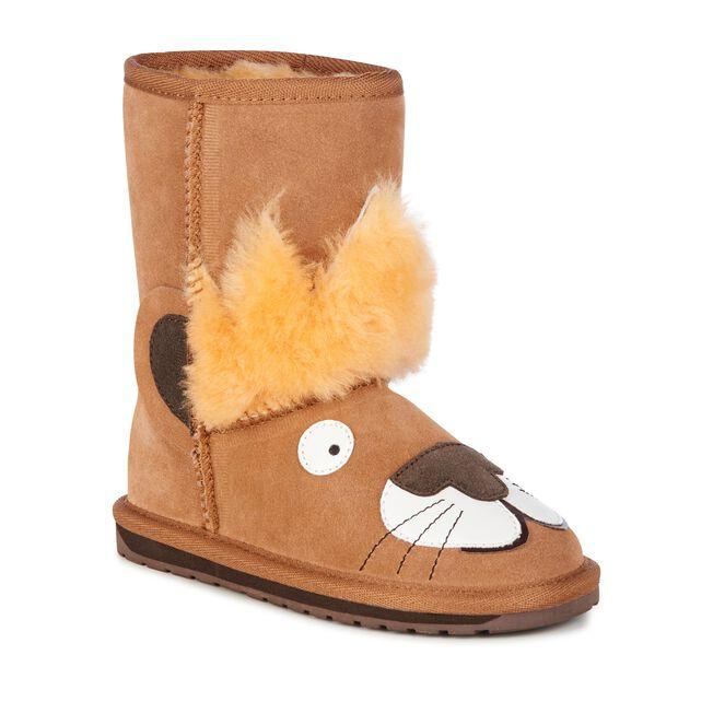 Little Leo S Nursery Fit For A King: Leo Lion Kids Deluxe Wool Boot- EMU Australia