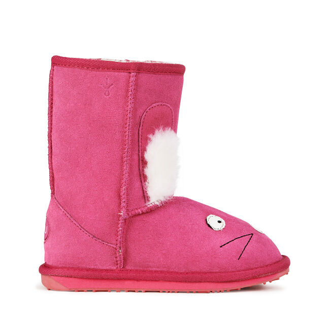 LC RABBIT Kids Deluxe Wool Boot - HOT PINK