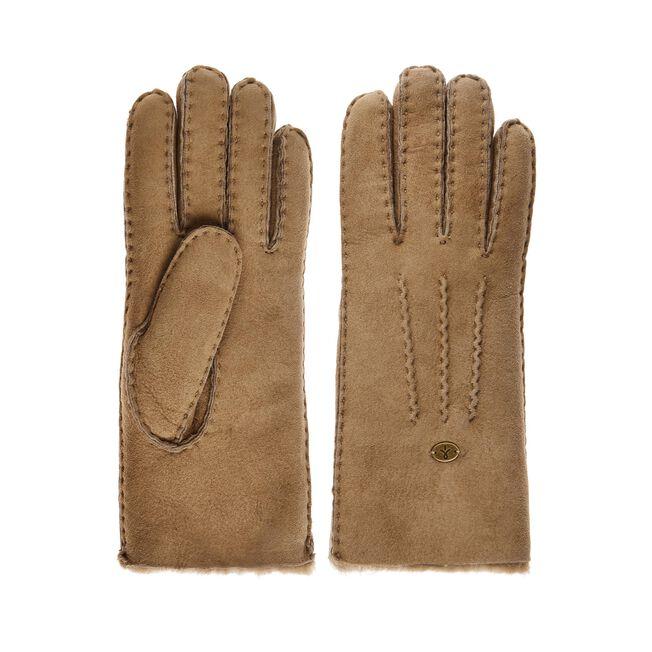BEECH FOREST GLOVES Womens Sheepskin Glove/Mitten - MUSHROOM
