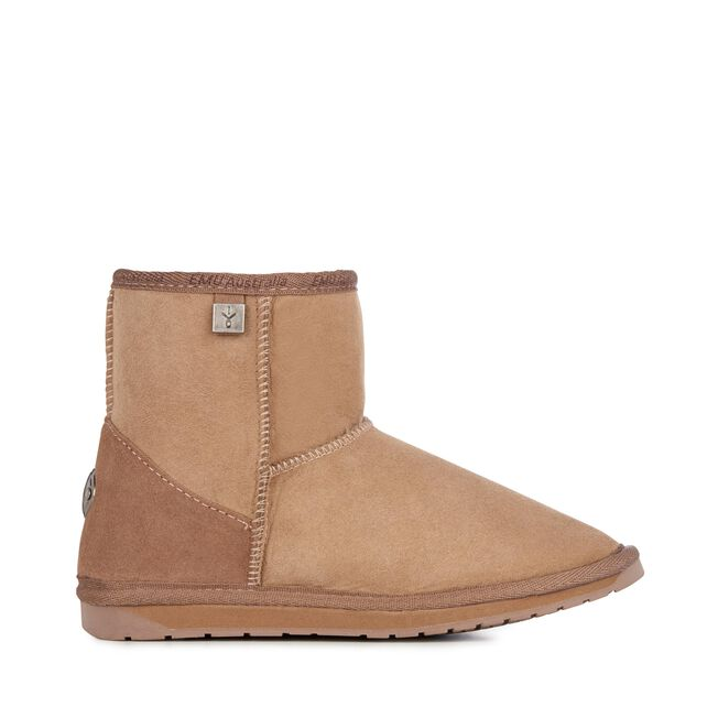 PLATINUM STINGER MINI Womens Sheepskin Boot - MUSHROOM