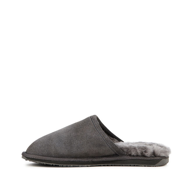 ADDIS Womens Liner Skin Slipper - CHARCOAL