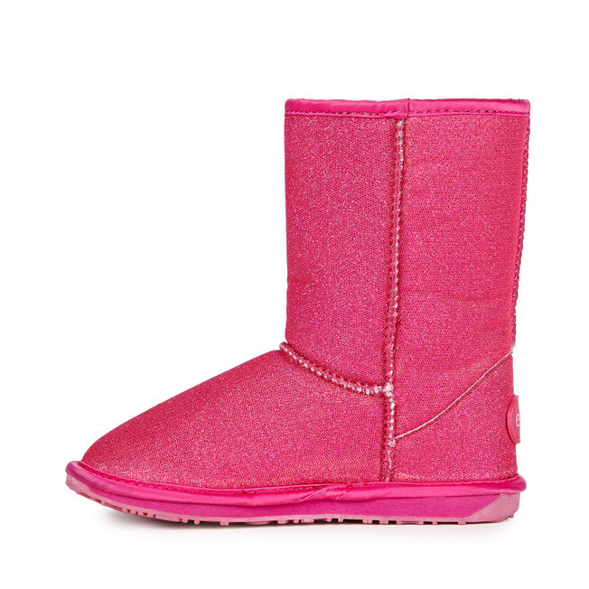 SPARKLE LO Kids Deluxe Wool Boot - HOT PINK