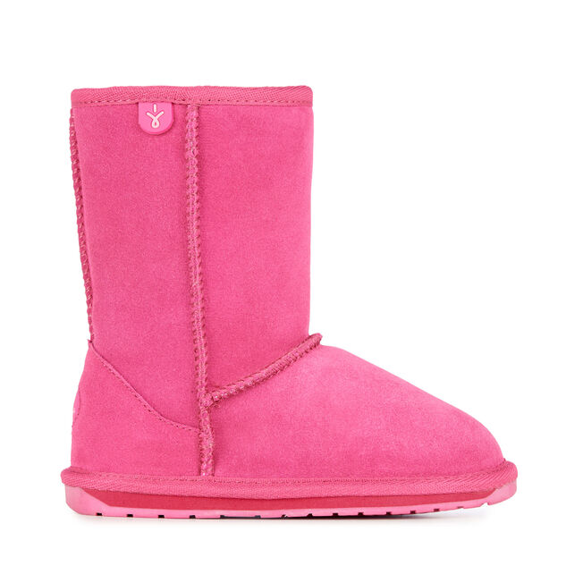 WALLABY LO Kids Deluxe Wool Boot - HOT PINK