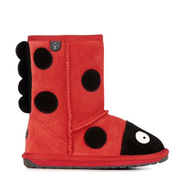 LC LADYBIRD Kids Deluxe Wool Boot - RED