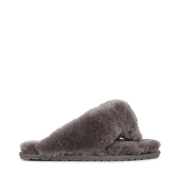 TOVA Womens Liner Skin Slipper - CHARCOAL