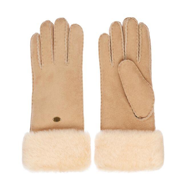 APOLLO BAY GLOVES Womens Sheepskin Glove/Mitten - CHESTNUT