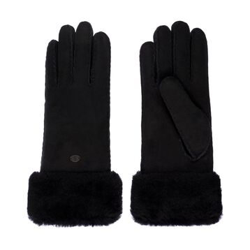 APOLLO BAY GLOVES Womens Sheepskin Glove/Mitten - BLACK