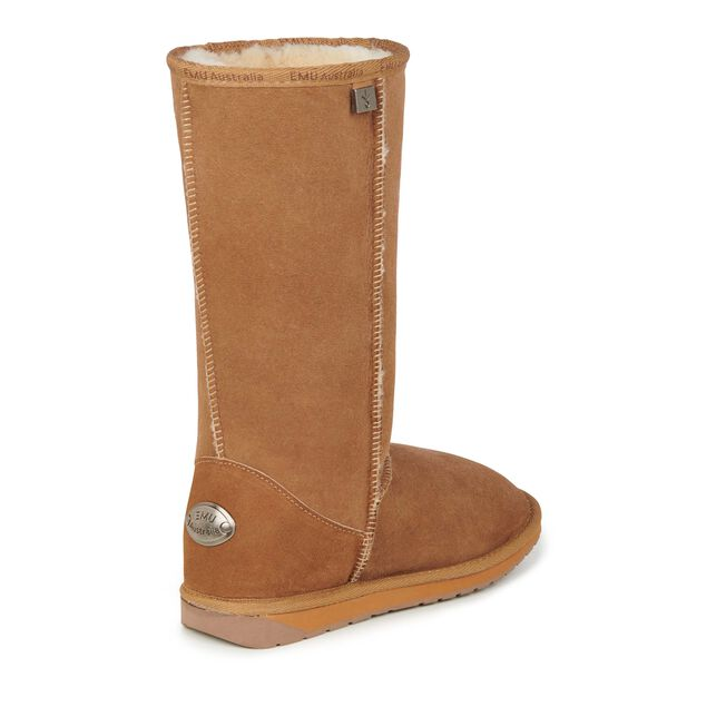PLATINUM STINGER HI Womens Sheepskin Boot - CHESTNUT