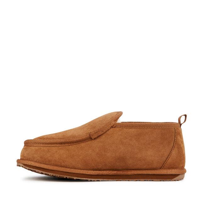 BUBBA Mens Deluxe Wool Slipper - CHESTNUT