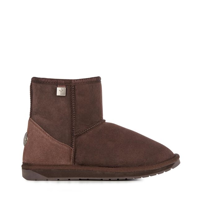 PLATINUM STINGER MINI Womens Sheepskin Boot - CHOCOLATE