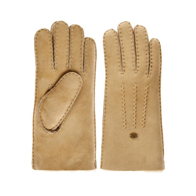BEECH FOREST GLOVES Womens Sheepskin Glove/Mitten - CHESTNUT