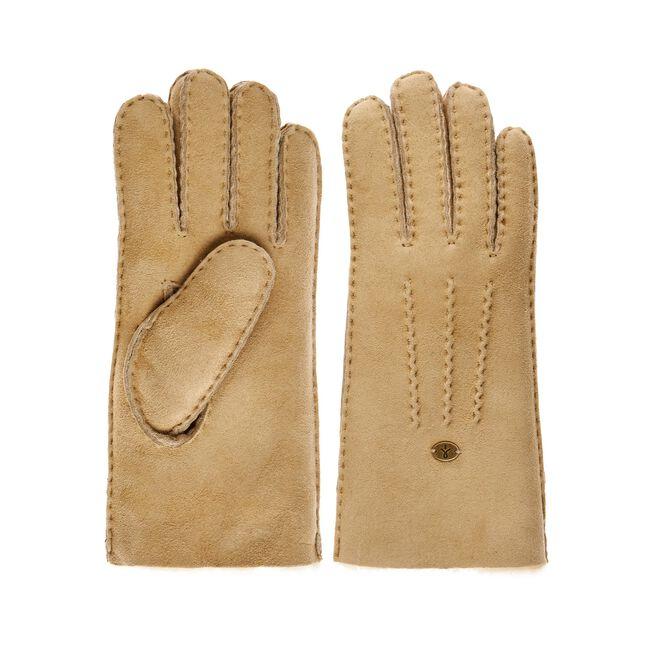 BEECH FOREST GLOVES Womens Sheepskin Glove/Mitten - CHESTNUT