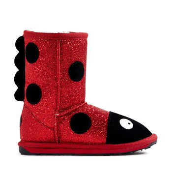 LC LADYBIRD SPARKLE Kids Deluxe Wool Boot - RED